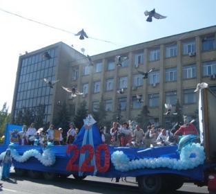 Парад в честь 220-летия Николаева